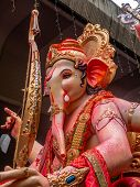 Big Statue Of Lord Ganesha During Ganesh Visarjan Which Marks The End Of The Ten-day-long Ganesh Cha poster