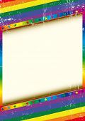 Gay frame with a texture. A grunge textured background with a large copy space for your message.