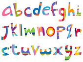 Lower case fun alphabet