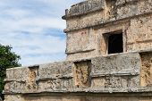 The Building Known As Templo De Los Frescos In Tulum, Mexico, A Former Mayan City. poster