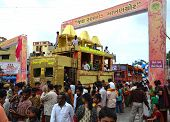 Decorated Trucks During Rathyatra Journey
