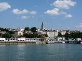 pic of yugoslavia  - Belgrade city view from the Danube river  - JPG