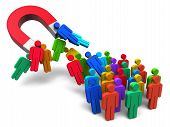 picture of crowd  - Social engineering concept - JPG