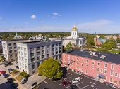 New Hampshire State House Aerial View, Concord, New Hampshire Nh, Usa. New Hampshire State House Is  poster