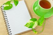 Recycle Notebook And Tea