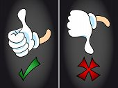Thumb Up And Thumb Down Symbol