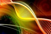 pic of gene  - Digital illustration of