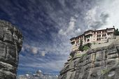 Ancient monastery in meteora, Greece