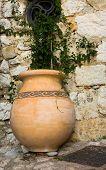 Orange Ceramic Pot