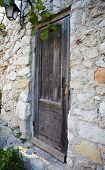 Old Wood Door In Eze