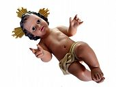 Figurine Of Child Jesus On White With Clipping Path