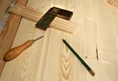 Carpenters Woodworking Tools Ready For Use