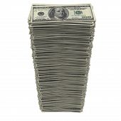 stock photo of 100 dollars dollar bill american paper money cash stack  - Stack of dollars - JPG