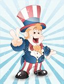Happy Uncle Sam Grunge Vector