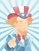 Winking Uncle Sam Vintage Art