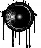 Speaker And Splash On A White Background