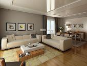 Sala de estar de estilo moderno