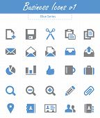 Business Icons V1 - Blue Series