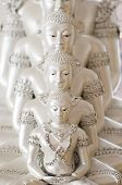 Beautiful White Buddha Statue