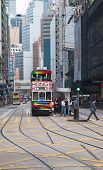 HONG KONG - DECEMBER 05: Unidentified people using city tram in Hong Kong on December 05, 2010. Tram