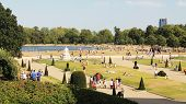LONDON, ENGLAND - SEPTEMBER 8, 2012: Hyde Park & Kensington Palace on September 8 in London, England