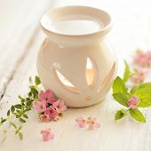 stock photo of fragrance  - fragrance oil warmer - JPG