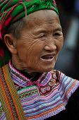 Black H'mong minority woman in the Bac Ha market, Vietnam