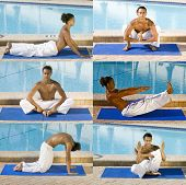 Yoga Workout Collage