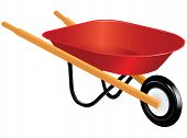 picture of wheelbarrow  - Industrial tool for manual movement of construction and household items  - JPG
