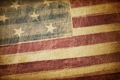 Vintage american flag grunge background