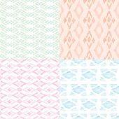 Seamless pastel powder trendy ethnic aztec decorative pattern in vector