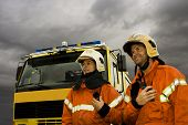 Two Smiling Firemen