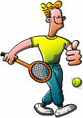 Proud Tennisman going to play