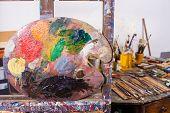 Palette In An Atelier