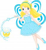 stock photo of tooth-fairy  - Little tooth fairy turns into a coin - JPG