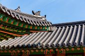 Traditional korean architecture roof eaves