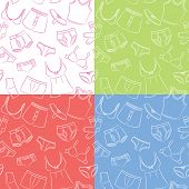 image of tanga  - Female And Male Underwear Doodle Seamless Patterns - JPG