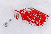 Santa's dropped his magic key in the snow.
