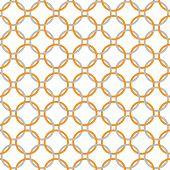 Orange, Gray And White Interlaced Circles Textured Fabric Background