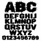 Studded grunge scary alphabet