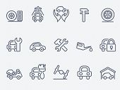 stock photo of adjustable-spanner  - auto service icons - JPG