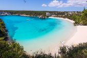Menorca Cala Galdana Beach in Ciutadella at Balearic islands