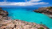 Menorca Platja es Calo Blanc in Sant Lluis at Balearic islands of Spain