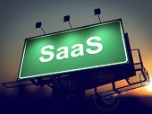 SAAS - Billboard on the Sunrise Background.