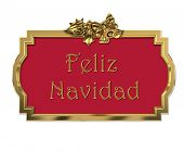 Christmas decorative golden 3D frame