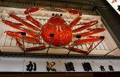 Giant Moving Crab Billboard In Dotombori, Osaka, Japan