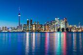 Night Scene Of Downtown Toronto
