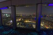 The Top Of Umeda Sky Building With Fluorescent Floor In Osaka Japan