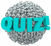 Quiz Test Evaluation Question Mark Sphere