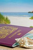 Passport at the beach